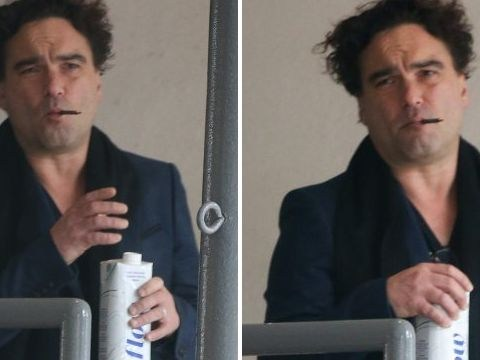 Johnny Galecki sparks speculation he's married girlfriend Alaina Meyer as he sports wedding ring