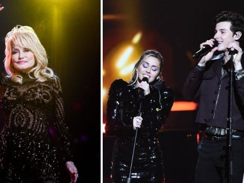 Miley Cyrus and Shawn Mendes perform Islands In The Stream together for Dolly Parton