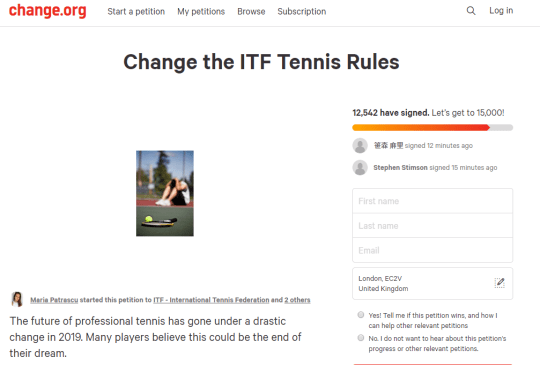 Tennis: ITF sent 3,700-word letter signed by nearly 700