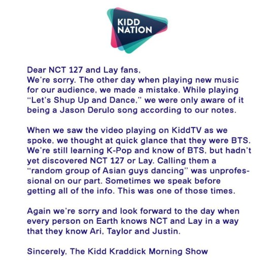 Radio hosts apologise for mistaking NCT 127 and Lay for BTS | Metro News
