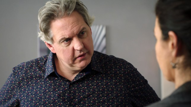 Sacha gets a shock in Holby City