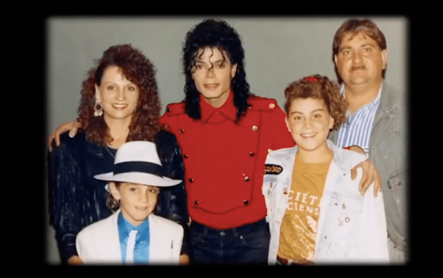 Michael Jackson and the Robson family