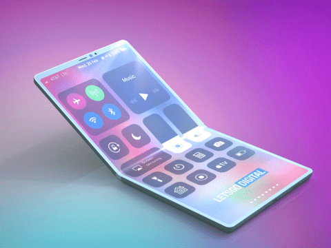 Is this what Apple's answer to the super-futuristic Samsung folding phone will look like?