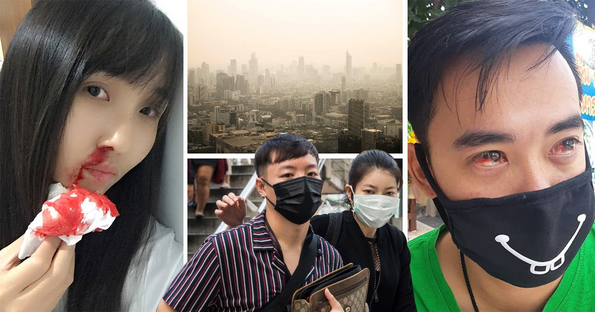 Thick toxic smog is making people cough up blood in Bangkok pollution crisis
