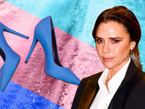 Victoria Beckham makes fashion faux-pas with peep-toe shoes in snow and admits it was 'not ideal'