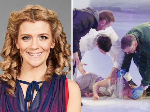 Dancing On Ice's Jane Danson stretchered off rink after fainting hours before live show