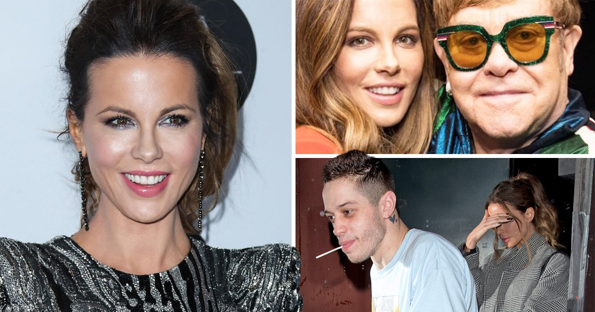 Kate Beckinsale tries to distract us from Pete Davidson 'romance' by partying with Elton John