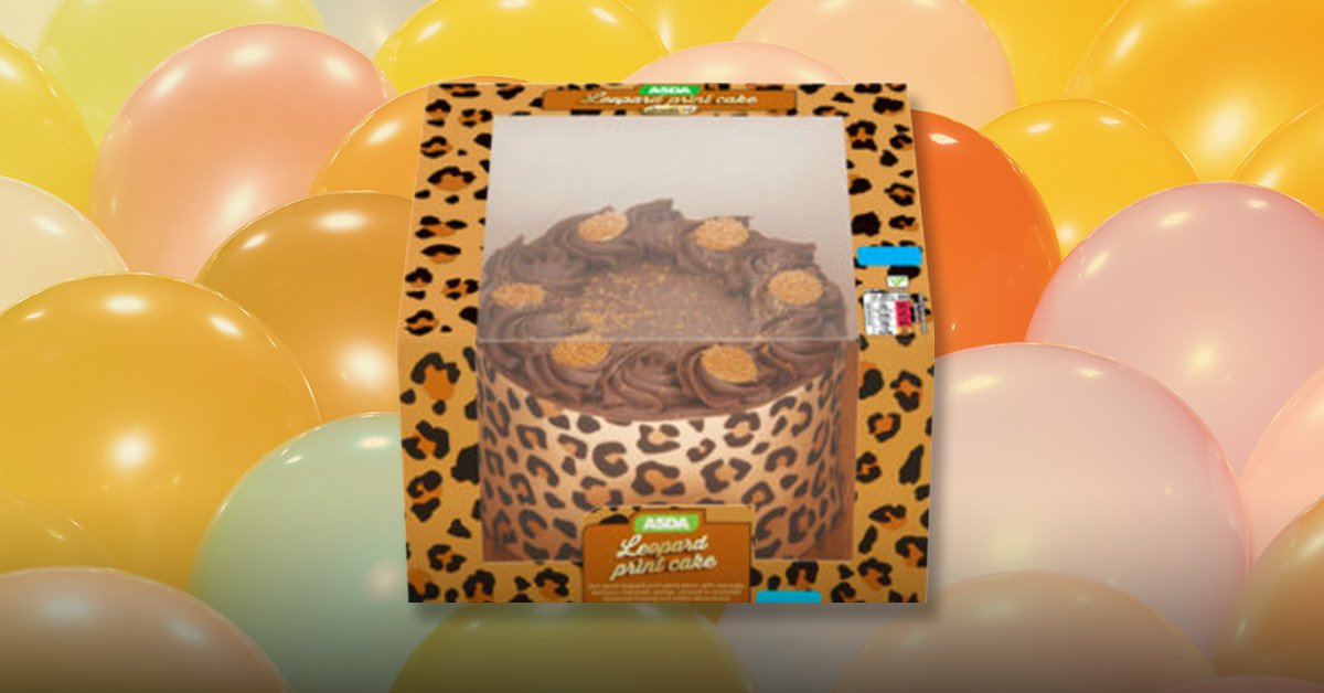 Asda is selling a leopard print cake and it matches all our clothes
