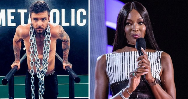 Liam Payne shirtless picture on Instagram and Naomi Campbell holding a microphone on stage