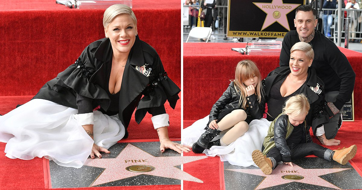 Pink celebrates with Carey Hart and family as she finally scores Hollywood Walk Of Fame star