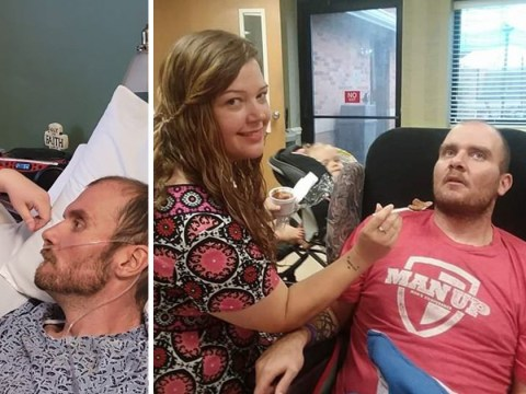 Wife sings Amazing Grace to husband dying from 'human form of mad cow disease'