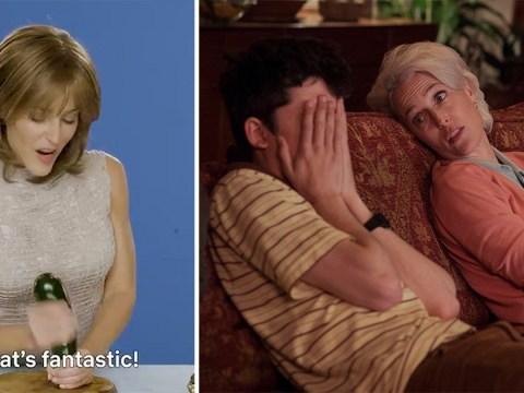 Gillian Anderson's extended Sex Education courgette masturbation scene has left us speechless