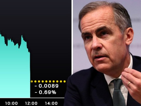 Pound plummets as Bank of England warns about Brexit uncertainty