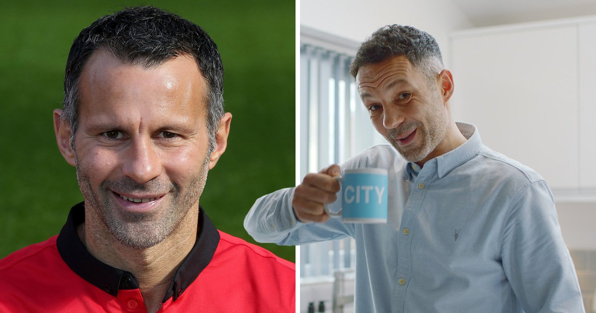 Ryan Giggs in football kit and his brother Rhodri Giggs in Paddy Power TV advert