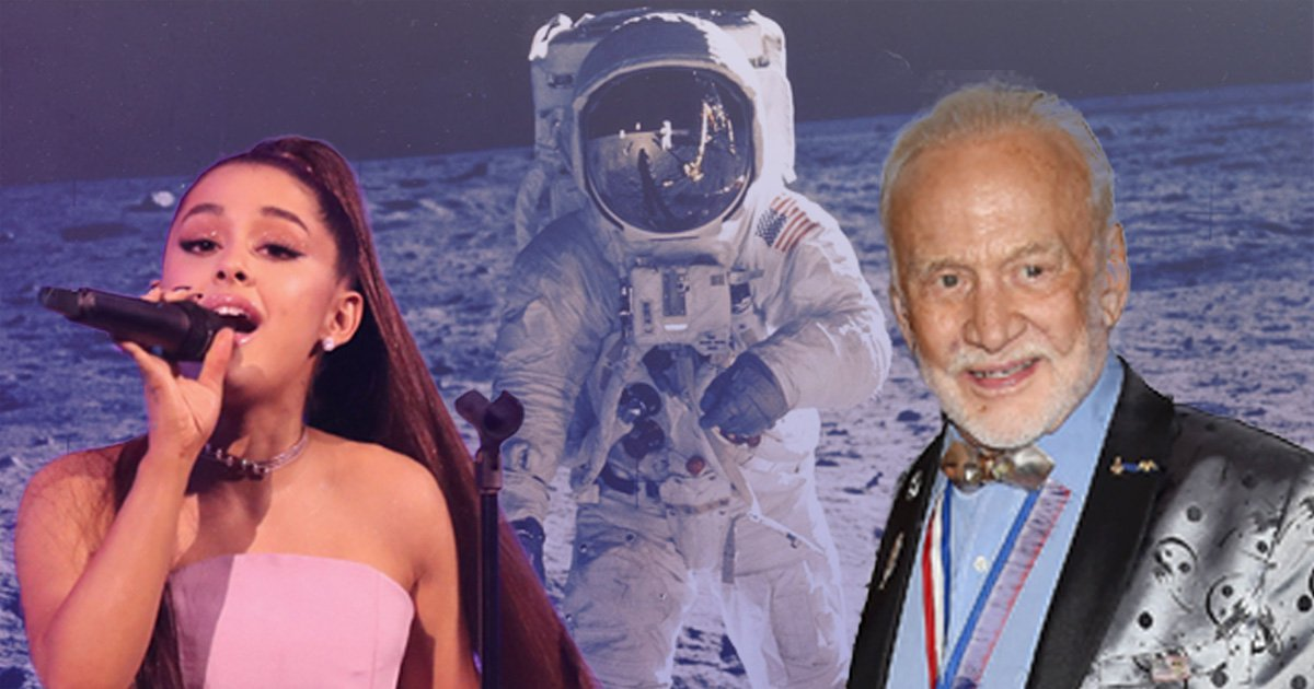 Buzz Aldrin fangirls over Ariana Grande and wants to be name-dropped in one of her songs