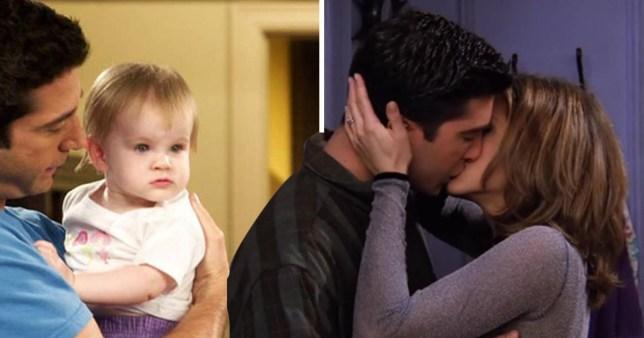 Ross, Rachel and Emma in Friends