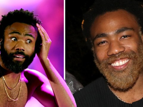 Donald Glover has us all shook as he unveils bleached beard at Grammys party