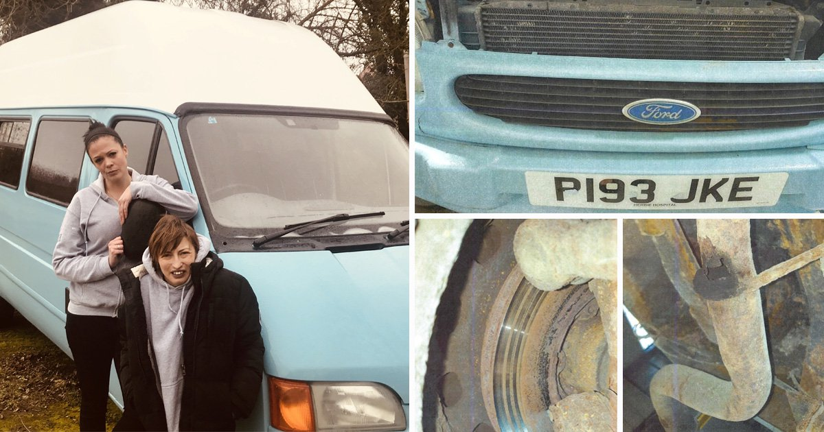 Charity worker fuming after donated van turns out to be a 'rust bucket'