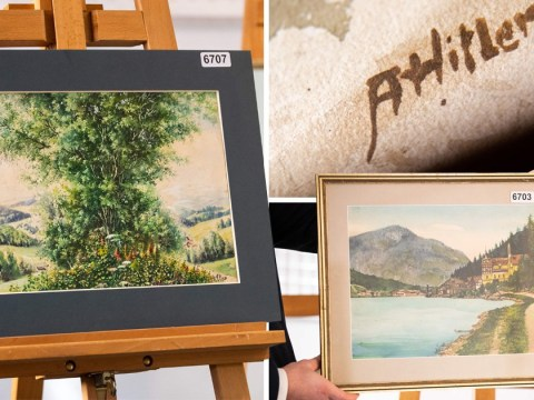 Not one watercolour painting by Hitler sold at auction