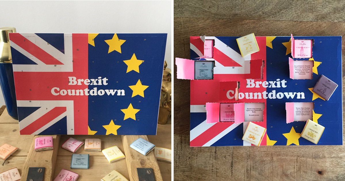 Man creates advent calendar for countdown to Brexit – with Belgian chocolates