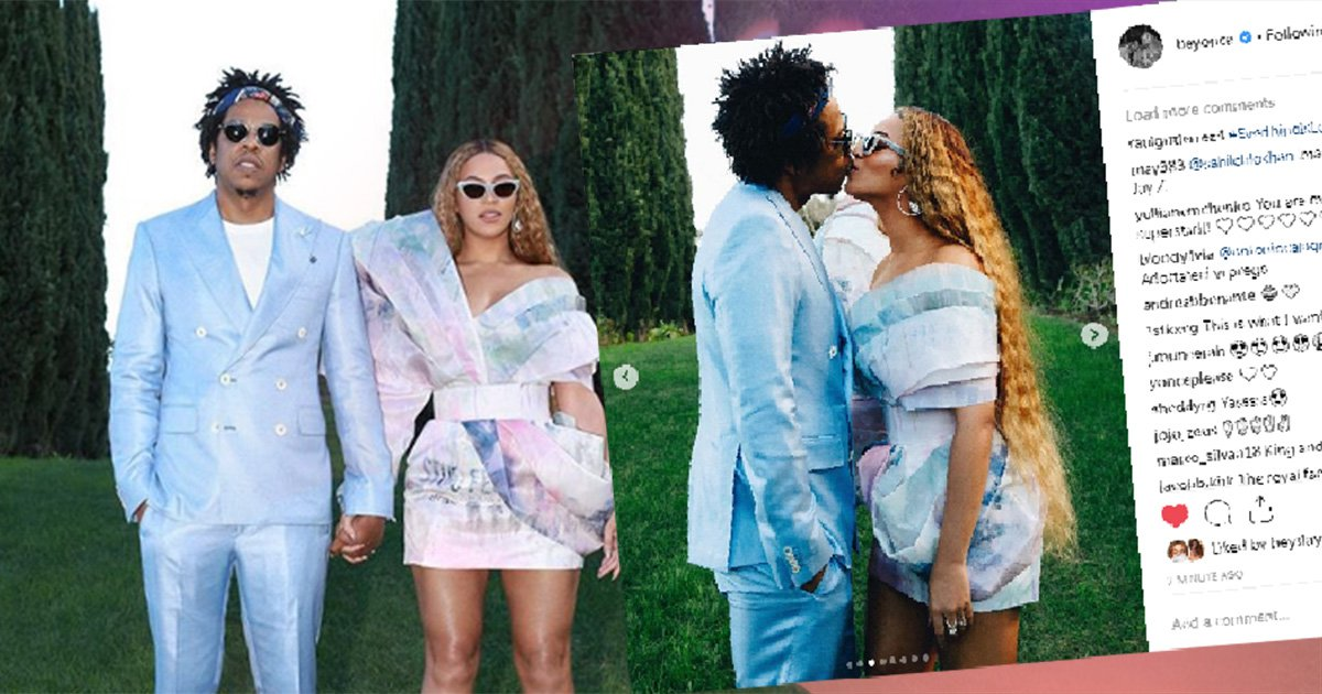 Beyonce can't keep her hands off Jay Z as couple share sweet kiss at Roc Nation's pre-Grammys 2019 brunch