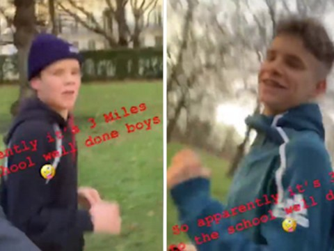 David Beckham and sons Cruz and Romeo run 3 miles to school every day and it's so wholesome it hurts