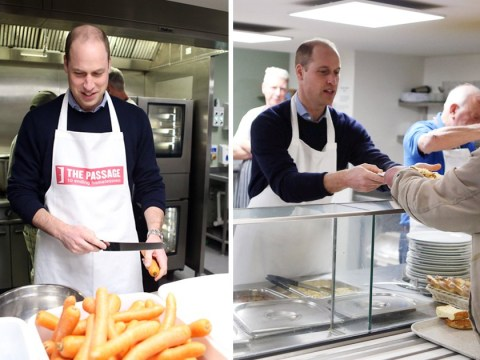 Prince William serves up spag bol to homeless people