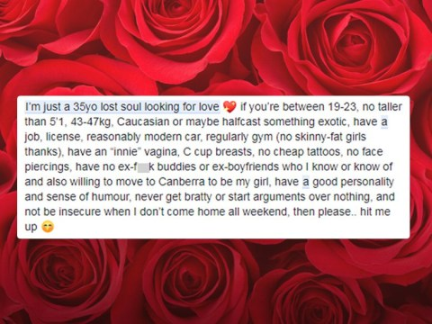 Deluded man posts lists of demands for girlfriend, and obviously gets dragged