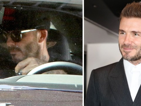 David Beckham 'caught using phone while driving' after escaping speeding fine
