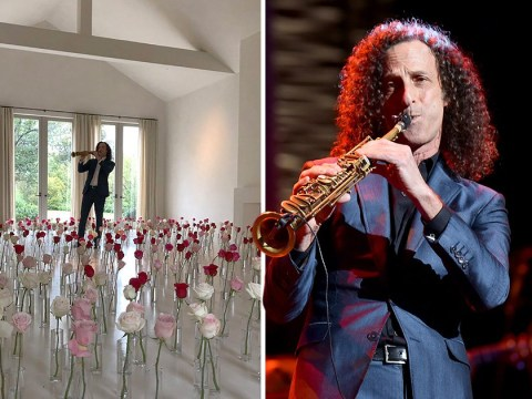 Can someone please save Kenny G from the rose prison in Kim Kardashian's house?