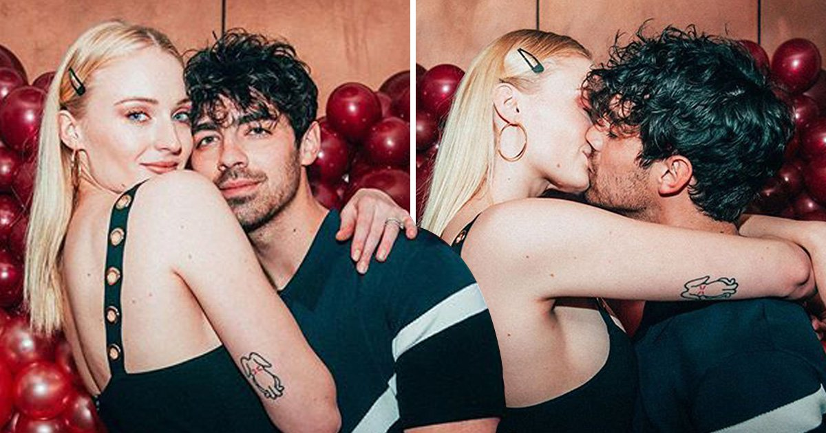 Sophie Turner thanks Joe Jonas with a kiss after Valentine's Day birthday party surprise