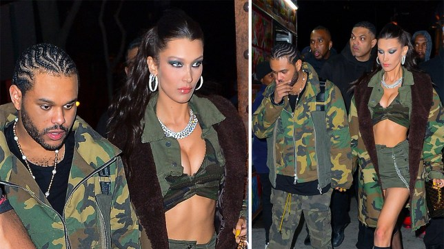 3bd114eb51 Bella Hadid catwalks into The Weeknd's birthday party like it's her own  special day