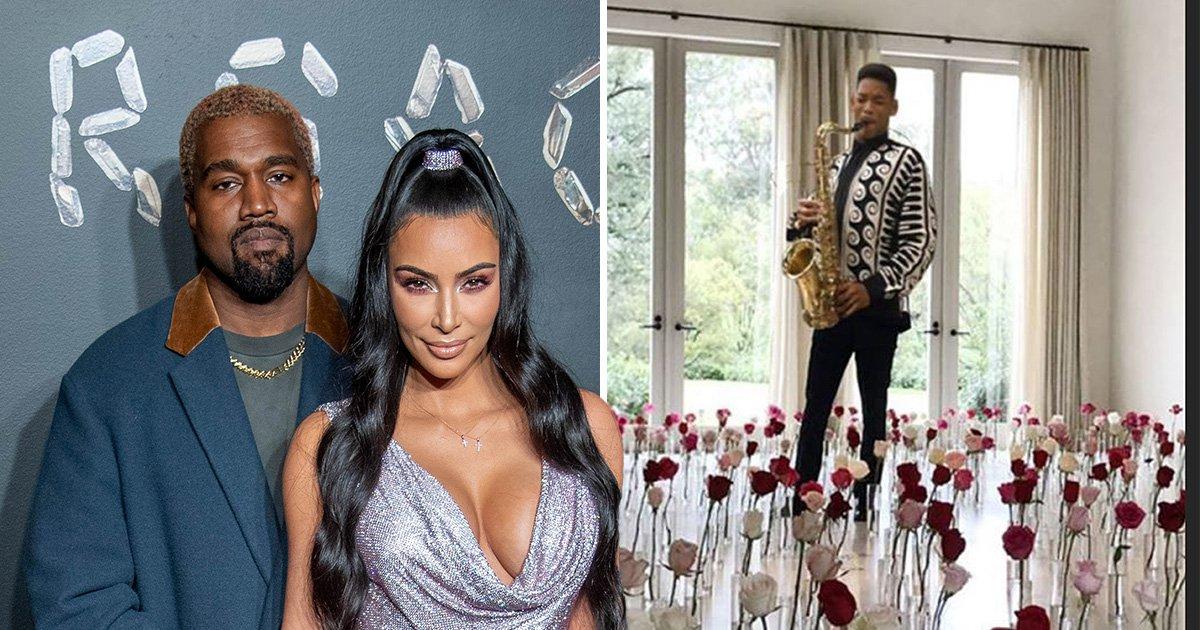 Will Smith trolls Kim Kardashian and Kanye West over Kenny Rogers 'saxual' Valentine's Day