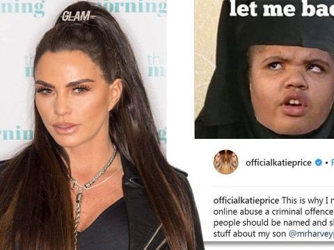 Katie Price calls out trolls targeting disabled son Harvey, 16, with horrific meme