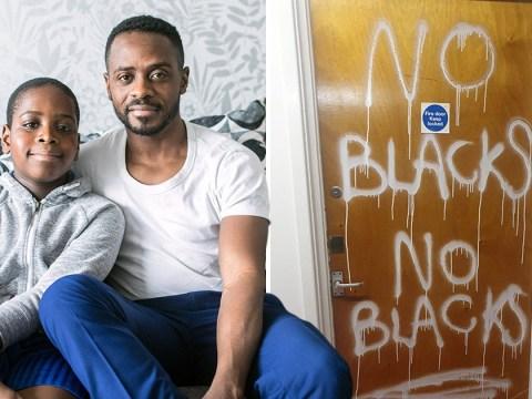 Boy, 10, left devastated as racist sprays 'no blacks' on family's front door