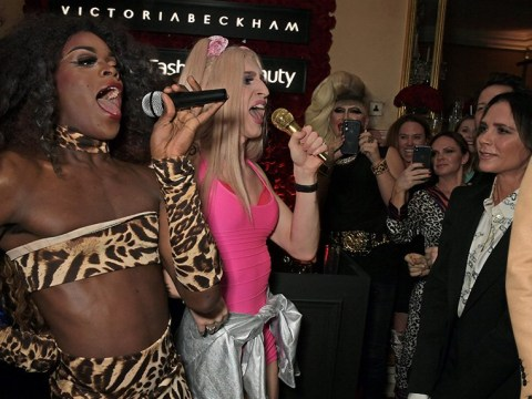 Victoria Beckham parties with Spice Girls drag queens after another successful LFW show