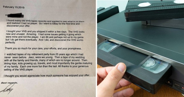 Where Can I Sell My Vhs Tapes >> Ebay Customer 86 Writes Sweet Letter To Vhs Seller Metro