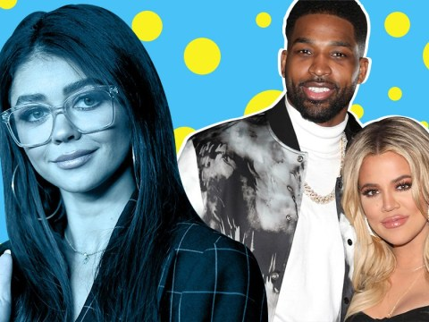 Sarah Hyland jokes Khloe Kardashian is 'out of the Woods' after Tristan Thompson cheating claims