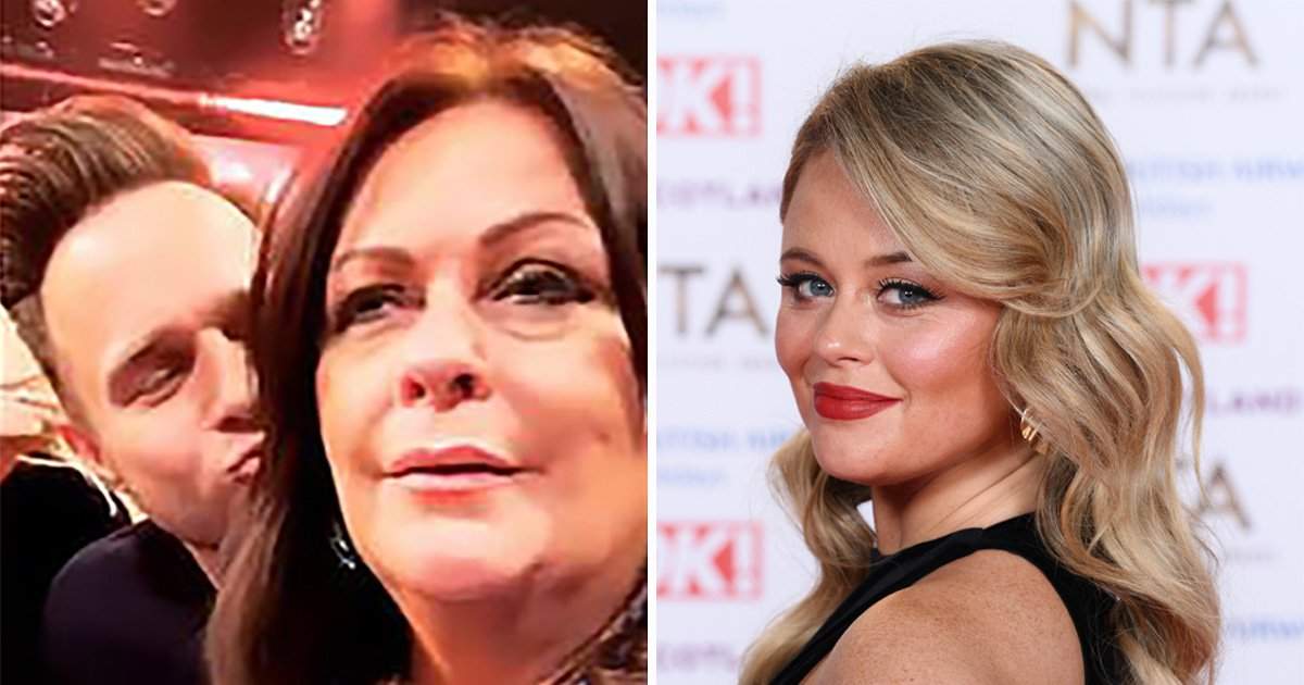 Emily Atack brands Olly Murs 'step daddy' as she third-wheels mum behind the scenes at All Round To Mrs Brown's