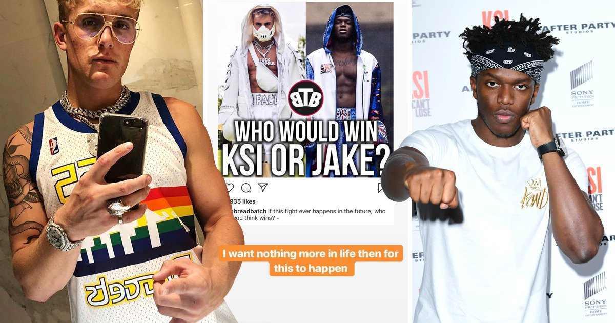 Jake Paul 'wants nothing more in life' than to fight KSI as he prepares for Soulja Boy boxing match