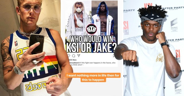 Jake Paul 'wants nothing more in life' than to fight KSI