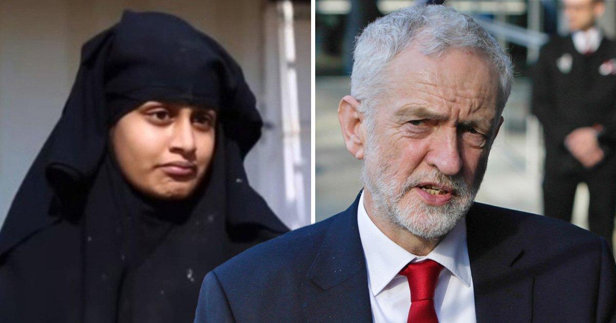Jeremy Corbyn says UK should let Shamima Begum return home