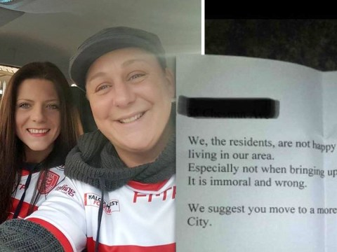 Lesbian couple told to 'move to a more appropriate part of town'
