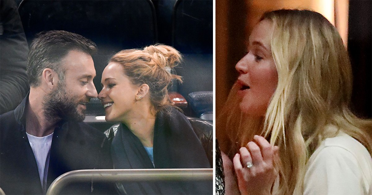 Jennifer Lawrence finally unveils huge diamond ring after confirming Cooke Maroney engagement