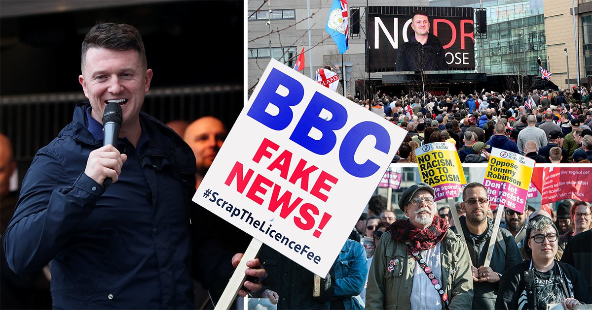 Tommy Robinson claims to reveal all about 'fake news' BBC in documentary