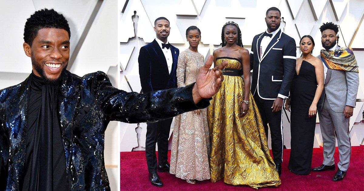 Black Panther cast take Wakanda to red carpet as MCU stars hit Oscars