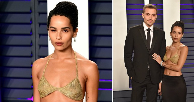 Zoe Kravitz rocks bra to Vanity Fair's Oscars 2019 after-party