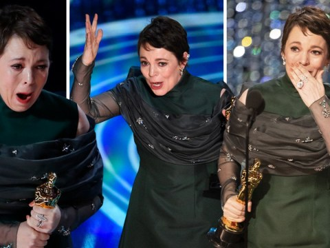 'This is hilarious, I got an Oscar!': Olivia Colman delivers best speech of night as she wins Best Actress