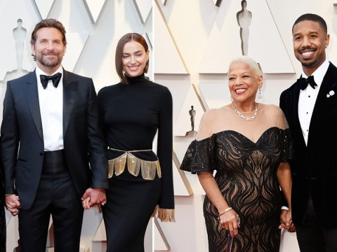 Michael B Jordan and Bradley Cooper couldn't look any prouder alongside their mums at the Oscars