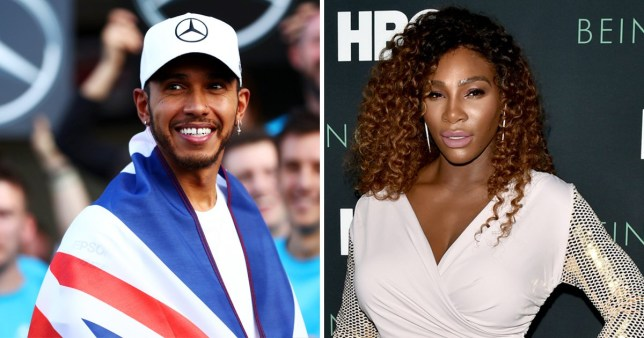 Lewis Hamilton posts touching tribute to 'inspiring' Serena Williams as he supports equality